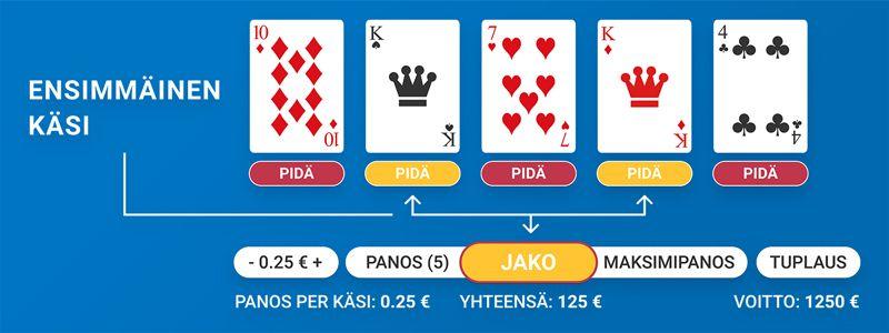 online video poker pääsäännöt