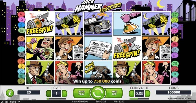 Play in Jack Hammer -kolikkopeli NetEntiltä for free now | Netti Casino